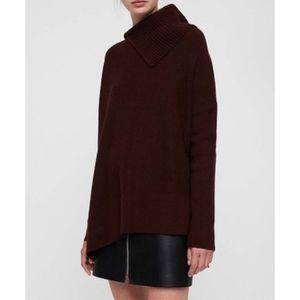 Allsaints Black Hettie Sweater, Medium